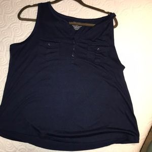 Navy Pocket tank top